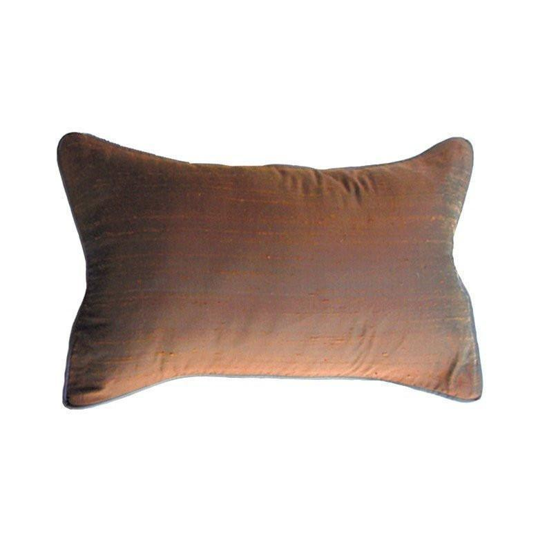 Bandhini Homewear Design Rectangle Cushion Earth / 12 x 18 Dupion Dark Choc Rectangle Cushion 30x46cm