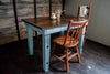 """The Altamont Table""- Provence Blue - Small Kitchen Table - Rustic Wood"