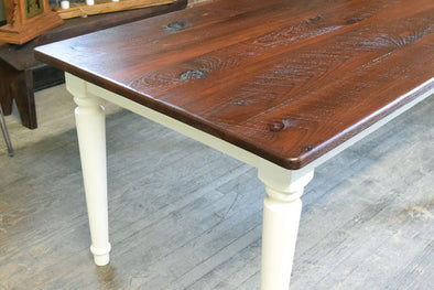 """The Cumberland Gap"" - Thick Leg Rustic Farm Table"