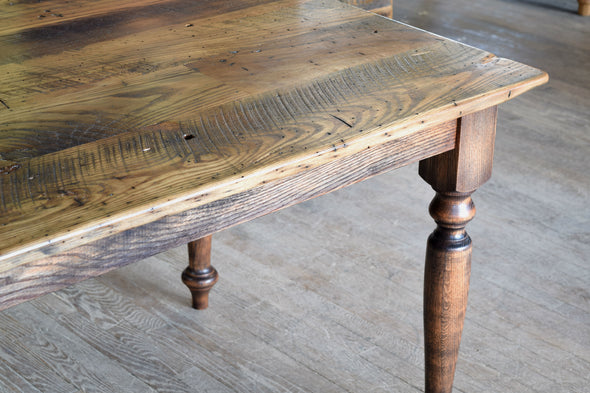 """The Highland"" - Reclaimed Chestnut Wood Farm Table"