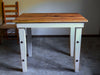 Counter Height Kitchen Island Reclaimed Wood Table Rustic Farm House Barnwood by Sugar Mountain Woodworks