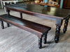 """The Shady Grove"" - Thick Wood Chunky Farm Table"