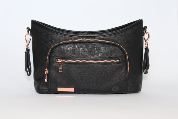 Luxury Stroller Organiser - Black & Rose Gold: SOLD OUT