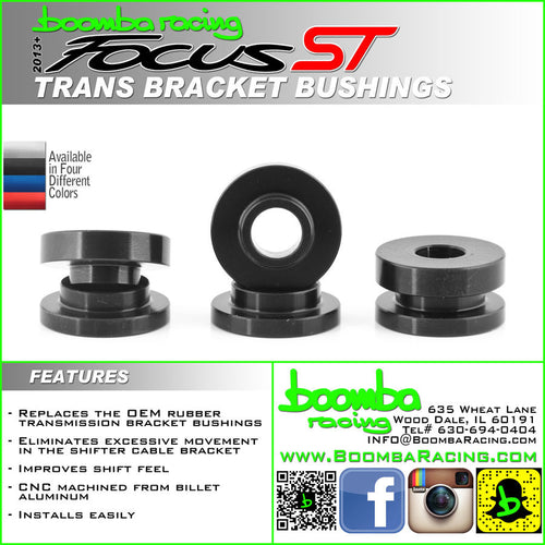 Boomba Racing Cable Bracket Bushings Focus ST 2013+