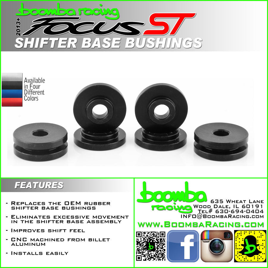 Boomba Racing Aluminum Shifter Base Bushings Focus ST 2013+/RS 2016+