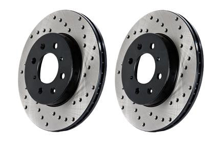 StopTech Drilled Sport Front Right Brake Rotor Focus ST 2013+