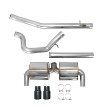 AWE Cat-Back Exhaust System Touring Edition Non-Resonated With Diamond Black Tips Focus RS 2016+