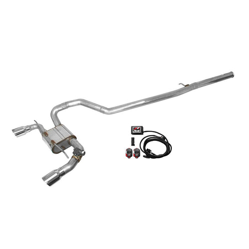 AWE Cat-Back Exhaust System SwitchPath With Chrome Silver Tips And SwitchPath Remote Pair Focus RS 2016+