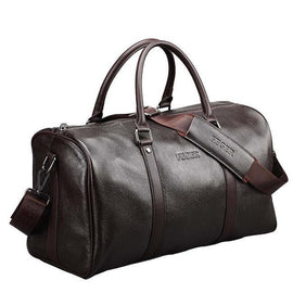 Ferger Leather Large Weekend Duffel Bag