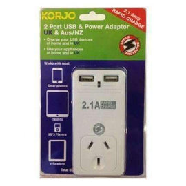 Korjo 2 Port USB & Power Adaptor