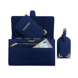 CBT Saffiano Leather Travel Wallet Set