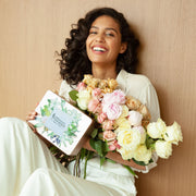 "Make mom smile as Chloé Mortaud with a surprise Mother's Day giftbox. This box contain natural body lotion with rose & peony to keep skin hydrated and moisturized everyday, the natural hand cream takes care of the your hands and leaves them nourished and repaired all the day. The perfect gift to say ""i love you mom"" - Mademoiselle Provence"