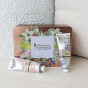 This gift box from Provence, containes hand cream enriched on Lavender & angelica and rose & peony. the must-have for nourished and soothed hands - Mademoiselle provence