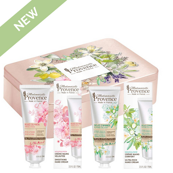 NEW! Duo Hand Creams Tin Gift Set Rose-Peony & Almond-Orange Blossom