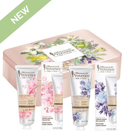 NEW! Duo Hand Creams Tin Gift Set Rose-Peony & Lavender-Angelica