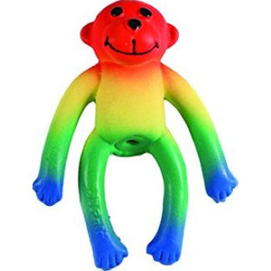 Coastal Lil Pals Toy Latex Monkey Multi Colored
