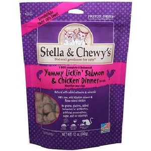 Stella & Chewy's Cat FD Yummy Lickin Salmon & Chicken 9 oz