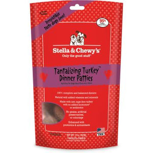Stella & Chewy's Dog FD Tantalizing Turkey Dinner Patties 14 oz