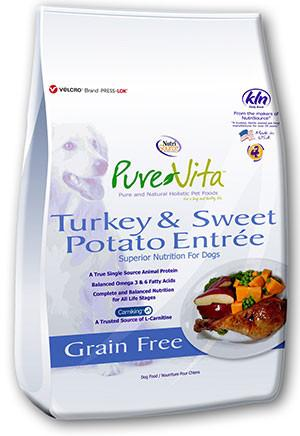PureVita Grain Free Turkey & Sweet Potato Dog Food