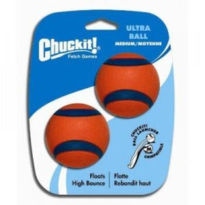 Chuckit! Launcher Compatible Ball Ultra Medium 2 Pack