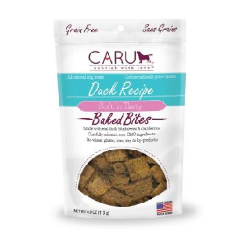 Caru Dog Treats Natural Duck Bites 4 oz