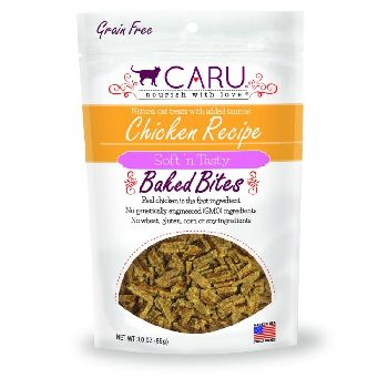 Caru Cat Treats Baked Natural Chicken Bites 3 oz