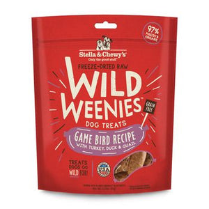 Stella & Chewy's Dog Treat FD Wild Weenies Game Bird 3.25 oz