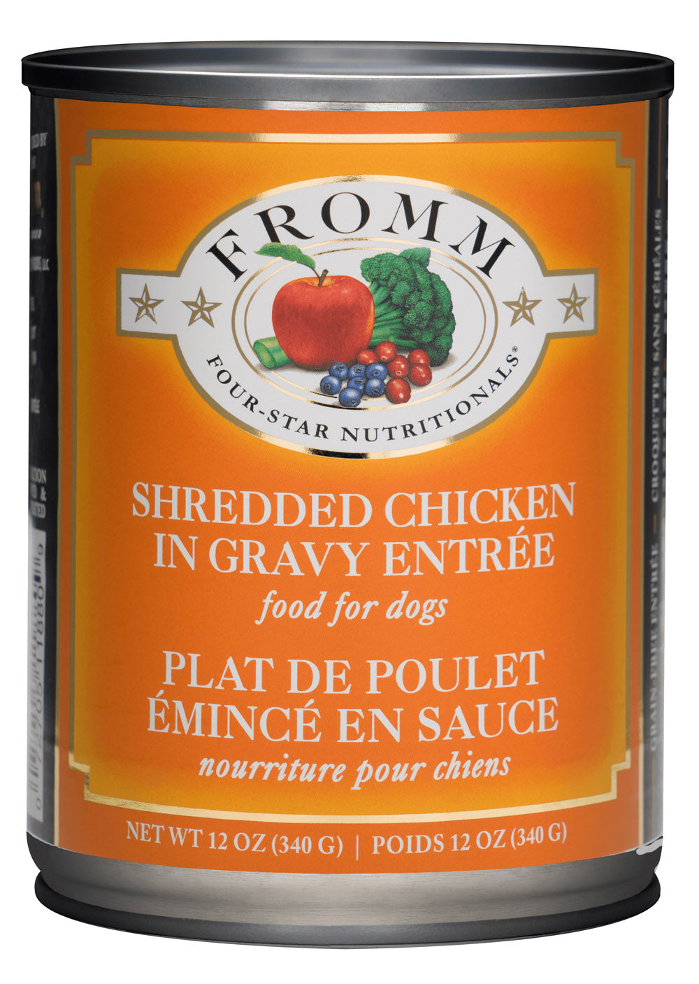Fromm Four-Star Can Shredded Chicken in Gravy Entree - Dog