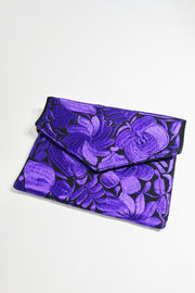 Chiapaneco Hand Loomed and Embroidered Floral Clutch