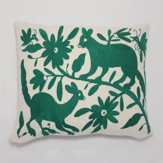 13x15 - Otomi Hand Embroidered Pillow