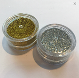 Gold and Silver Cosmetic glitter set