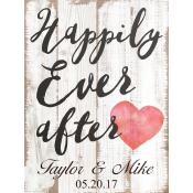 Happily Ever After Engraved Plaque