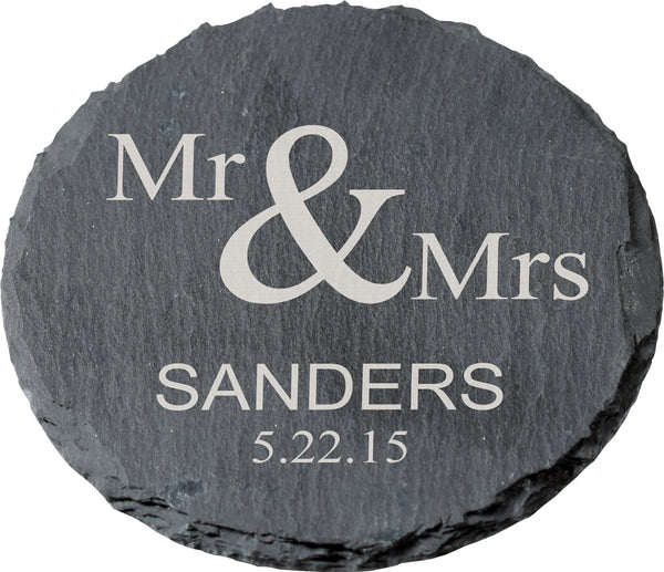 Slate Round Coaster-Set of 4