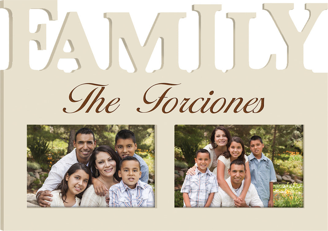 Ivory Family Photo Frame