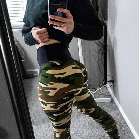 SCRUNCH CAMO LEGGINGS, Leggings, Think Bazaar