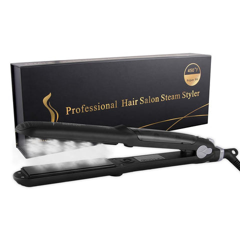 STEAMSTRAIGHT™ SALON PROFESSIONAL ARGAN OIL STEAM HAIR STRAIGHTENER, Beauty, Think Bazaar