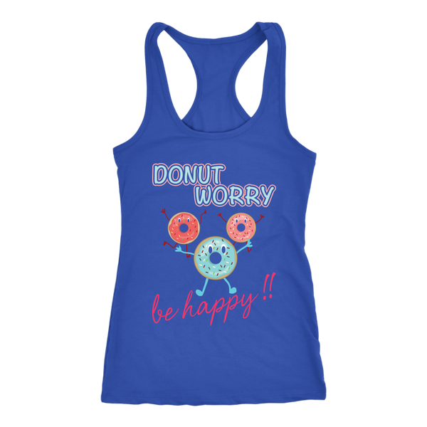 DONUT WORRY BE HAPPY TANK TOP, Tank Tops, Think Bazaar