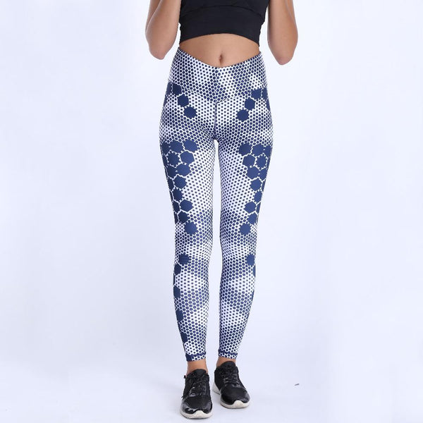 HONEYCOMB PRINT LEGGINGS 2.0, Leggings, Think Bazaar