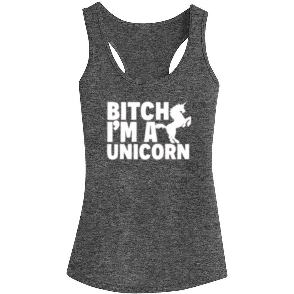 BITCH I'M A UNICORN TANK TOP, Tank Tops, Think Bazaar
