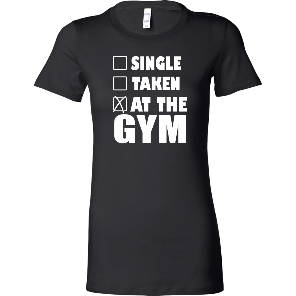 SINGLE TAKEN AT THE GYM T-SHIRT, T-shirt, Think Bazaar