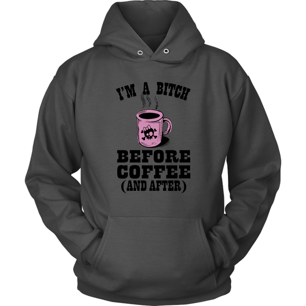 I'M A BITCH BEFORE COFFEE HOODIE, Hoodies, Think Bazaar