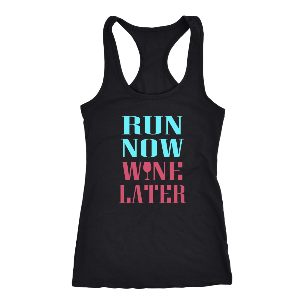 RUN NOW WINE LATER TANK TOP, Tank Tops, Think Bazaar