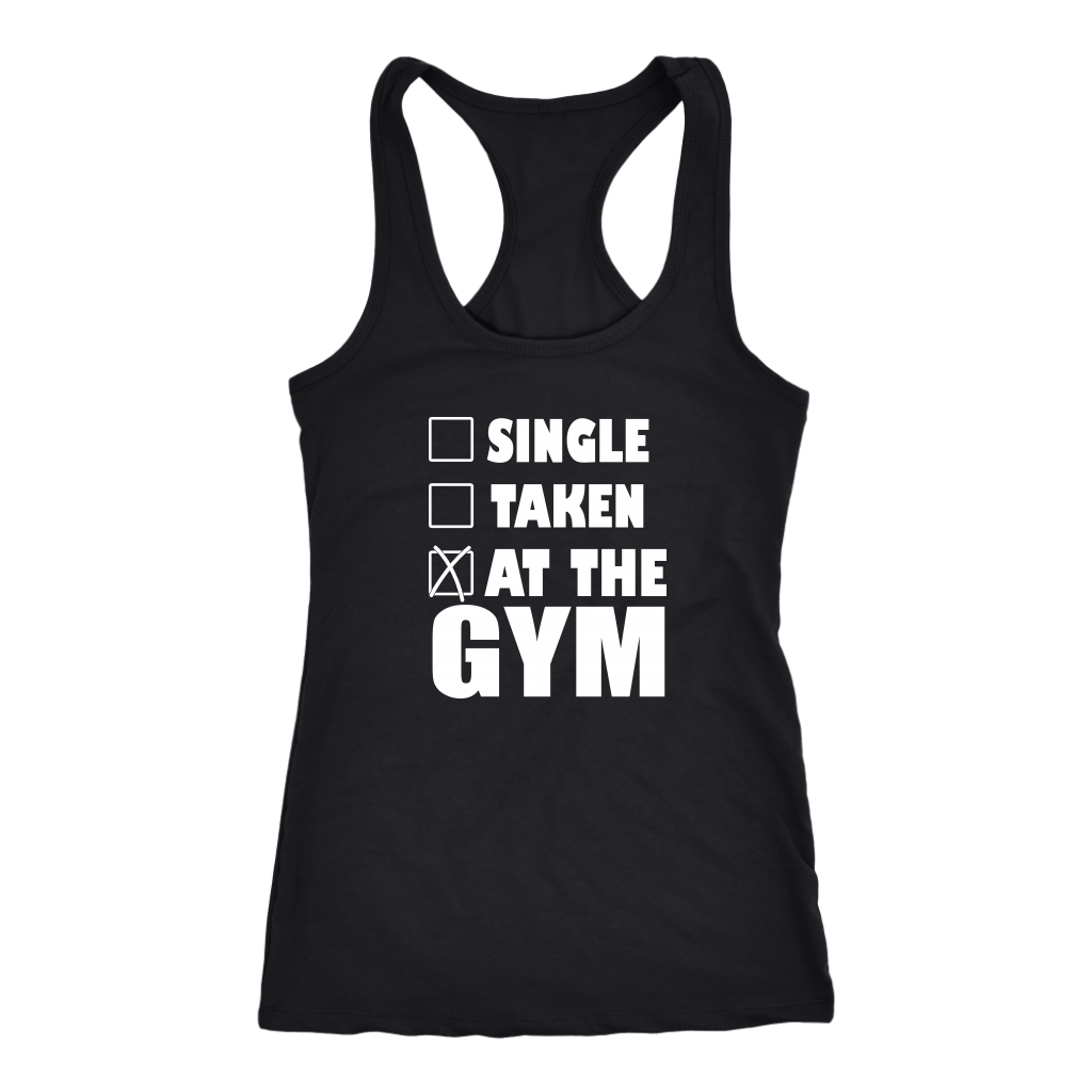 SINGLE TAKEN AT THE GYM TANK TOP, Tank Tops, Think Bazaar