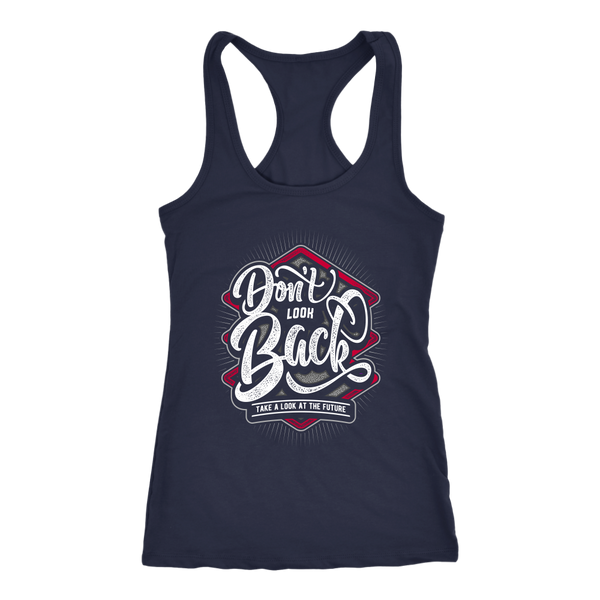 DON'T LOOK BACK TANK TOP, Tank Tops, Think Bazaar