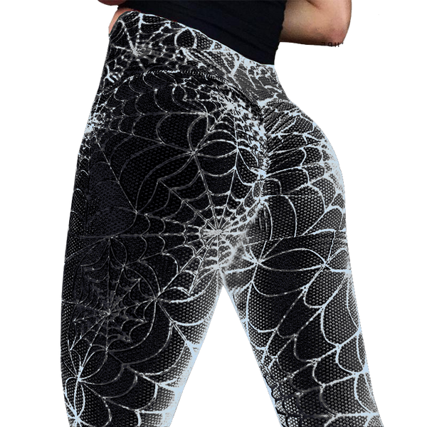 SPIDER WEB PRINT LEGGINGS, Leggings, Think Bazaar