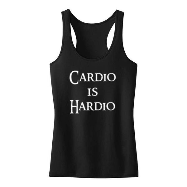 CARDIO IS HARDIO TANK TOP, Tank Tops, Think Bazaar