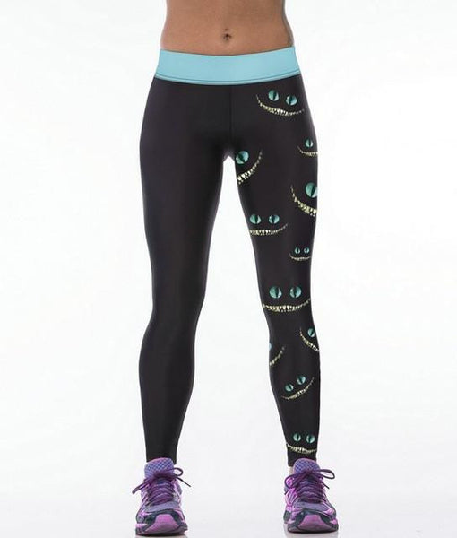 CHESHIRE MAD CAT LEGGINGS, Leggings, Think Bazaar