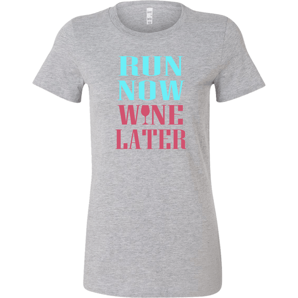 RUN NOW WINE LATER T-SHIRT, T-shirt, Think Bazaar