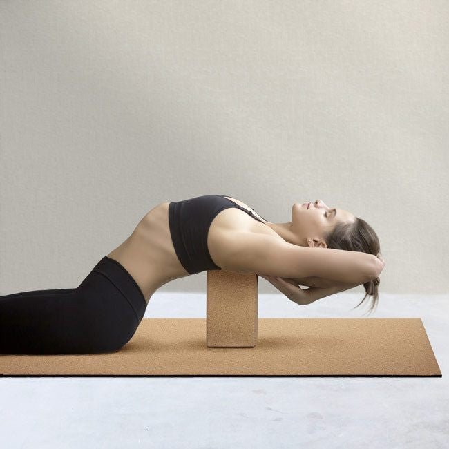 Basically Perfect Non-Toxic Cork Yoga Mat and Cork Yoga Block 100% Natural Sustainable Elegant Minimalist Style