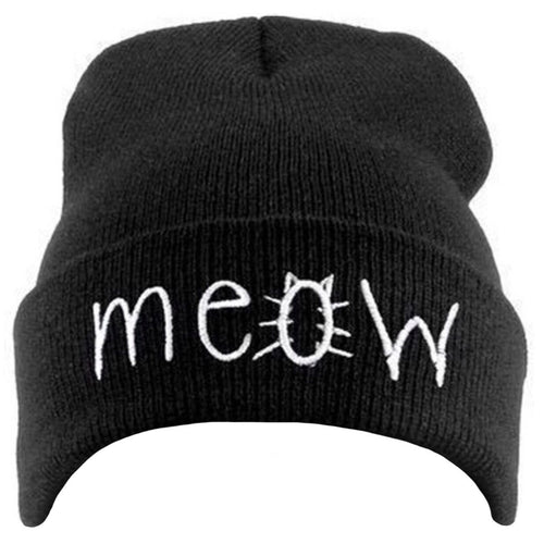 Beanie Meow Icon - in Black, Pink, Blue, Grey, Navy or Maroon